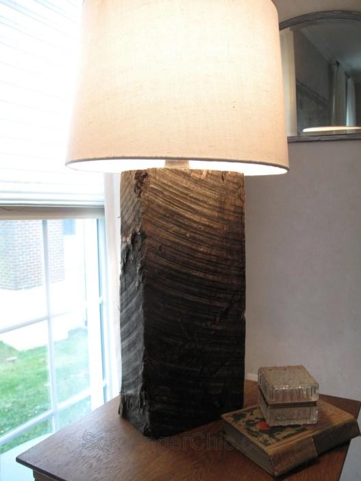 Railroad Tie lamp diy, Homemade Lamp, Repurposed lamp, Recycled Lamp, diy lamps, unique lamps