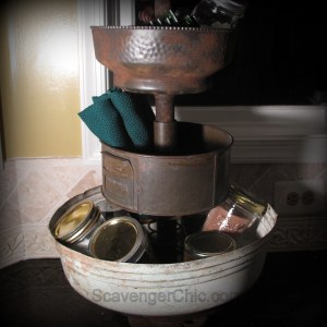 Upcycled Metal Tiered Server