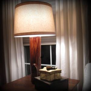 Tree Log lamp diy
