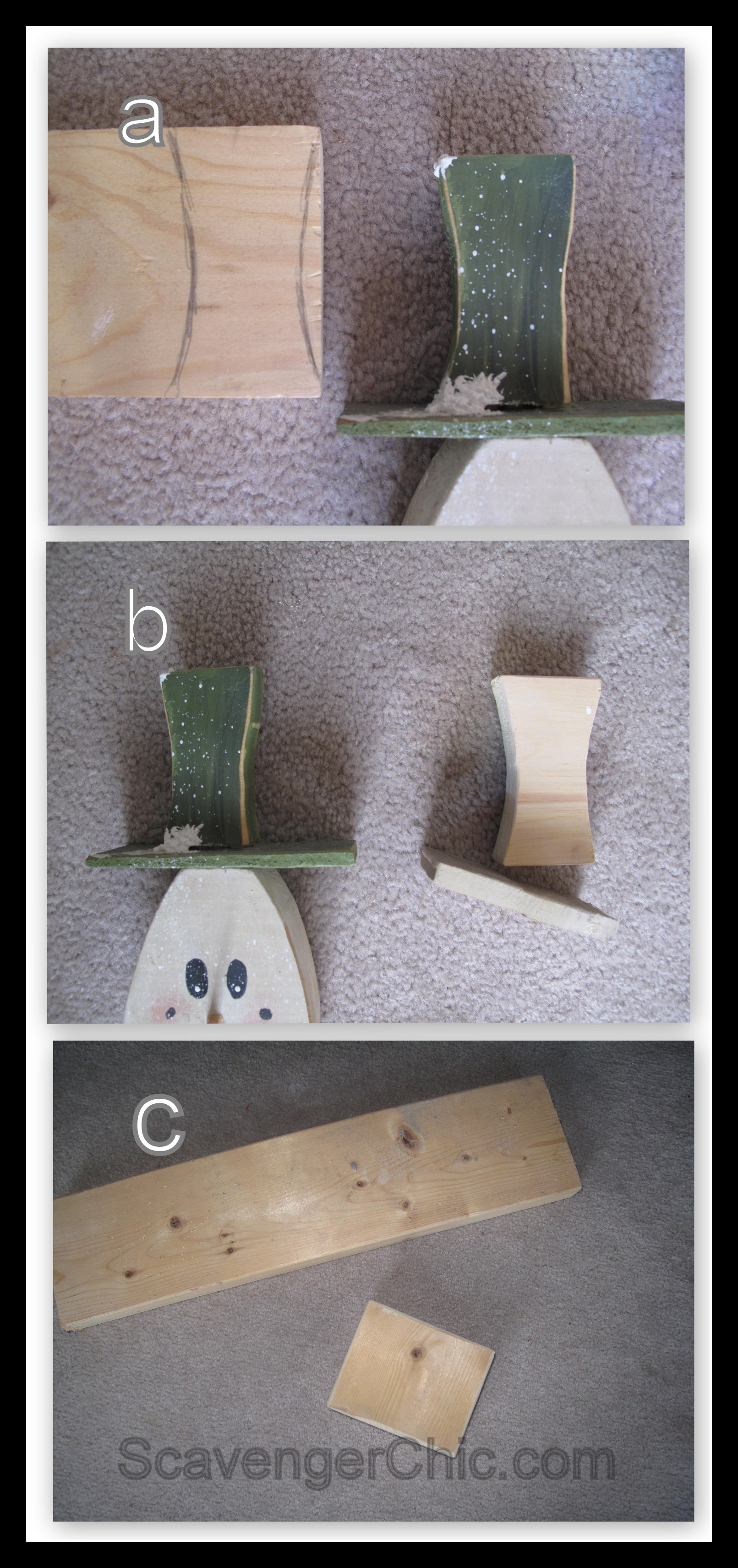 2x4 Projects Snowman Tutorial Out Of Wooden