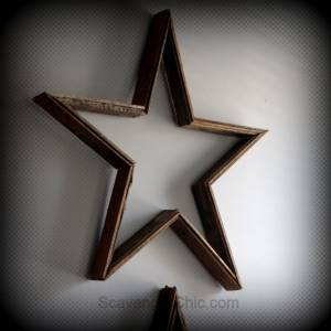 Pottery Barn Inspired-Reclaimed Wood Stars