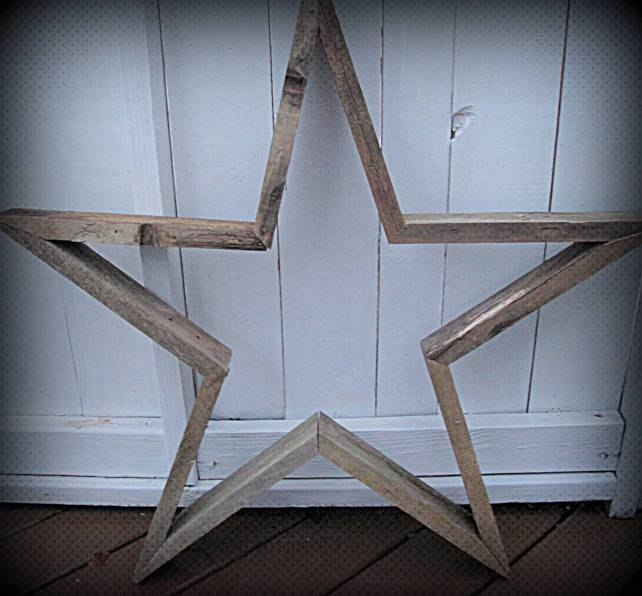 Pallet Wood Star, Reclaimed Wood Star, Star made from old Oak Flooring, Reclaimed Wood projects
