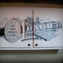 Cabinet Makeover with Lumber graphic