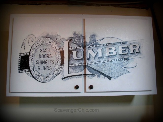 kitchen cabinet makeover, transferring pictures, graphic transfer, kitchen cabinet redo, kitchen cabinet refacing, kitchen cabinet upcycled, lumber graphic, graphics fairy lumber