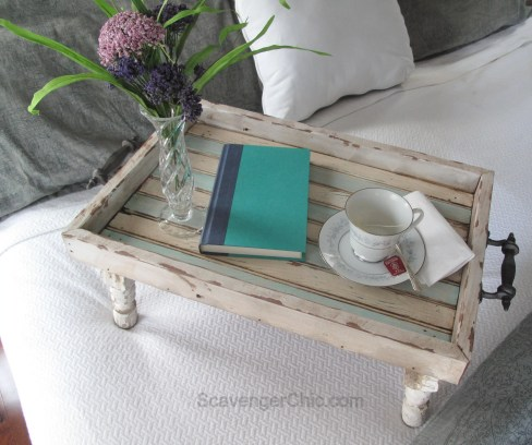 Reclaimed Wood Bed Tray diy