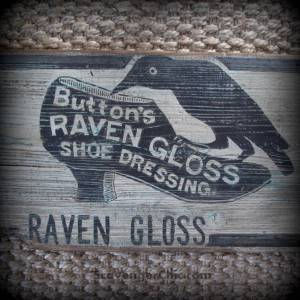 Raven Gloss Wood Sign