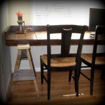 Pallet Wood Sawhorse Desk