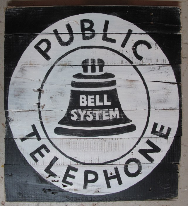 Pallet Wood Sign diy, Vintage Style Telephone sign