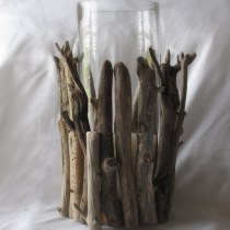 Easy Driftwood Hurricane Lamp diy