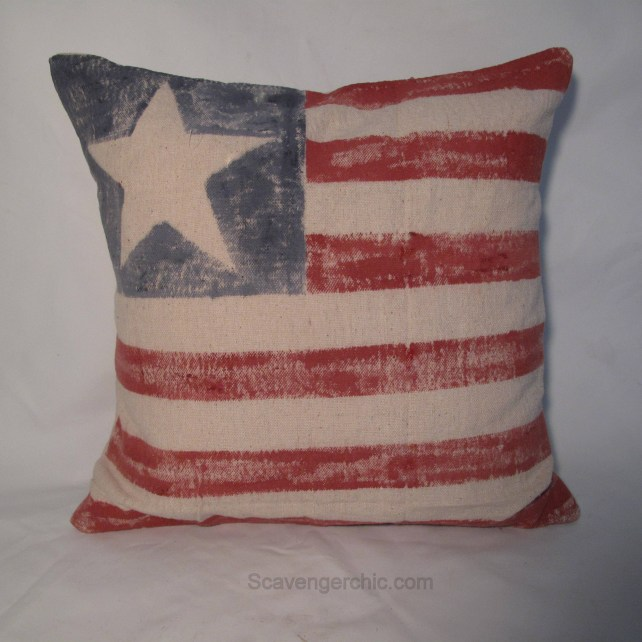diy flag pillow in time for the 4th of July , Stars and Stripes