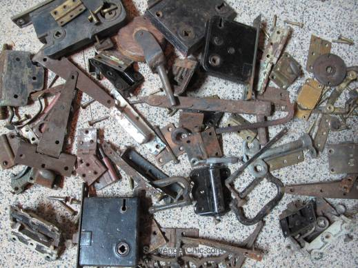 Salvaged Rusty Parts