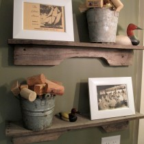 Easy Pallet Wood Shelf diy