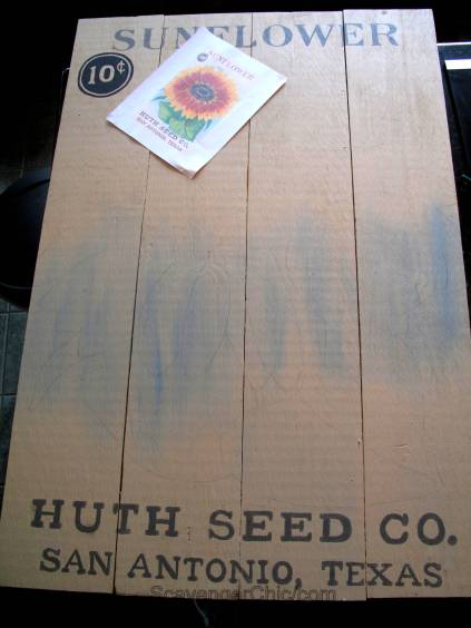 Sunflower Seed Packet Sign diy, wooden sign