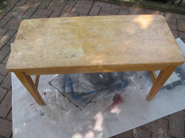Painting an old Bench