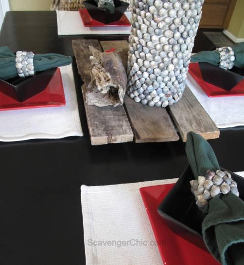 Seashell napkin holder/rings diy