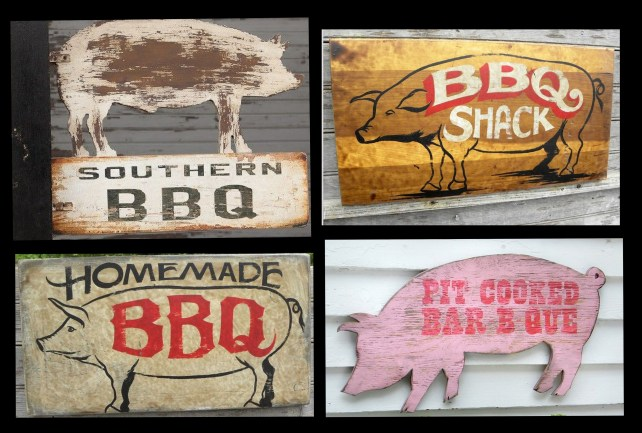 Vintage Style BBQ Signs