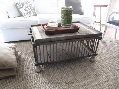 Rcycled Chicken Coop coffee table