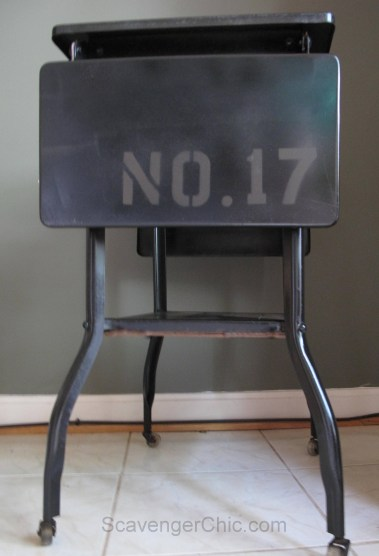 Vintage Typing Table Makeover