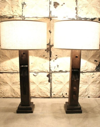 Woodworking Planer Repurposed- Lamps