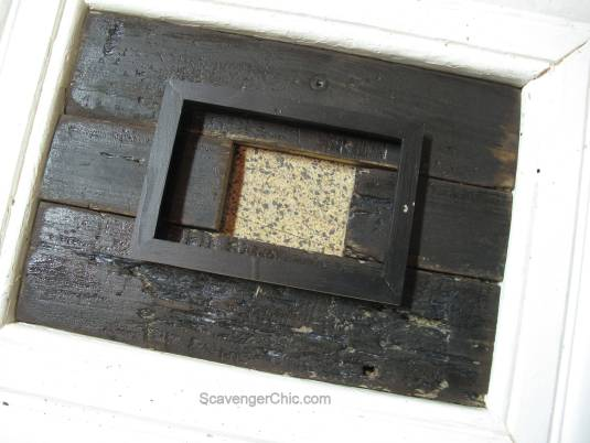 Vintage Molding and Pallet Wood Frame