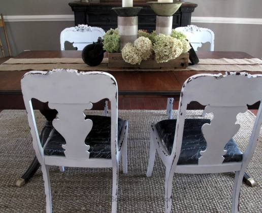 Curbside Find - Dining Room Chairs Makeover