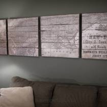 Pottery Barn Inspired Planked New York Map