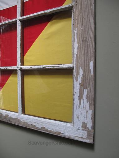 Signal Flag and Old Window beach decor