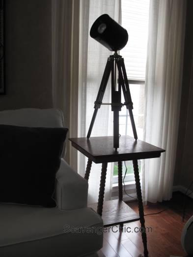 Tripod Spotlight Lamp diy-009