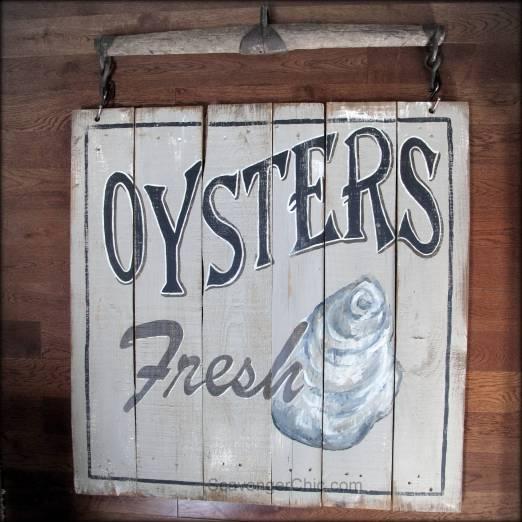 Vintage Oyster Sign diy-002