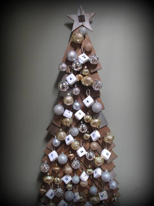 6ft Advent Calendar Christmas tree, cedar shingles, wood christmas tree, great for small spaces