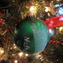 Babys Footprint Christmas Ornament diy