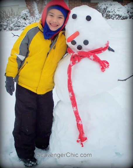Build a Snowman Kit diy, Gifts Kids can make