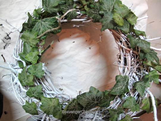 Winter ivy and seed pod Wreath