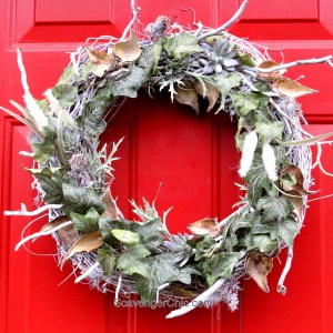 Winter, Ivy and Seedpod Wreath