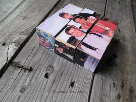 diy photo blocks - gifts for kids to make