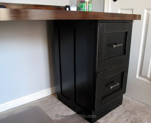 Creating a desk from Metal File Cabinets-008