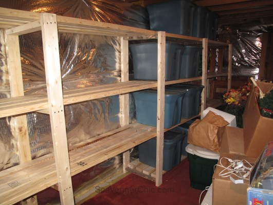Easy Garage or Basement Shelving and Storage from 2x4s
