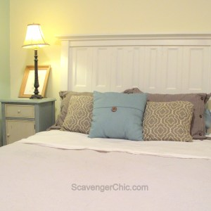 Headboard from Old Shutters