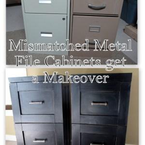 Mismatched Metal File Cabinets