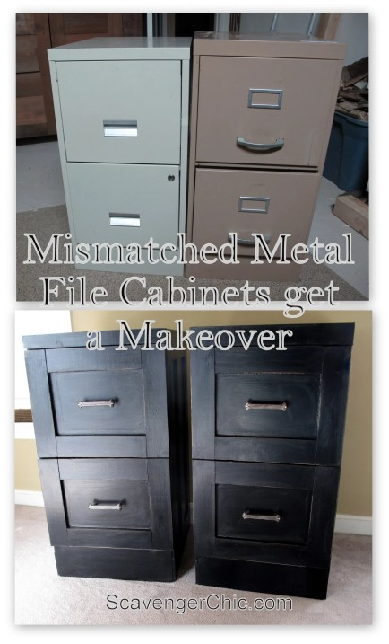 Mismatched Metal File Cabinets