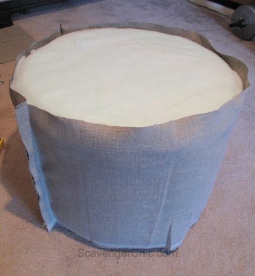 Upcycled Wire Spool Ottoman-011