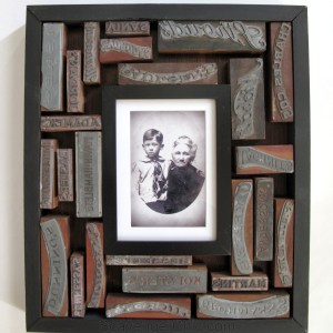 Vintage Printer Blocks Frame