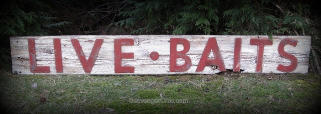 LIVE BAITS Sign - Fixer Upper Style