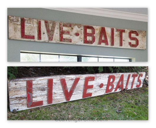 LIVE BAITS Sign, Fixer Upper Style diy