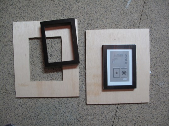 Vintage Antique Printing Blocks, DIY Frame
