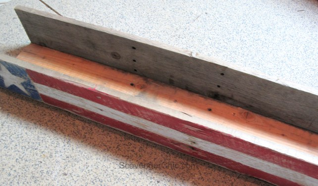 4th of July, Independence Day, Flag, pallet wood centerpiece-005