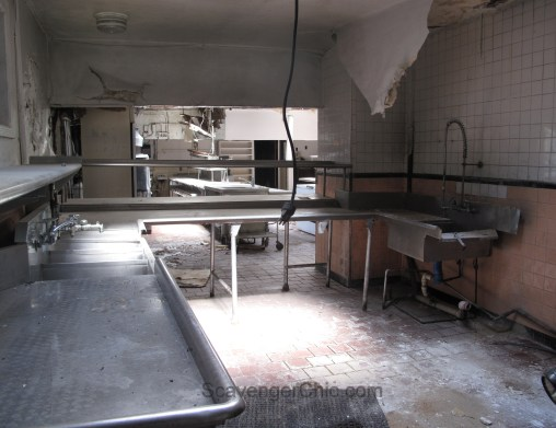 Scavenging an abandoned restaurant