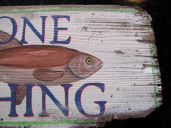 Gone Fishing DIY Vintage Style Sign