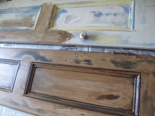 Recycled Shutters and Candles Wall Sconce-008
