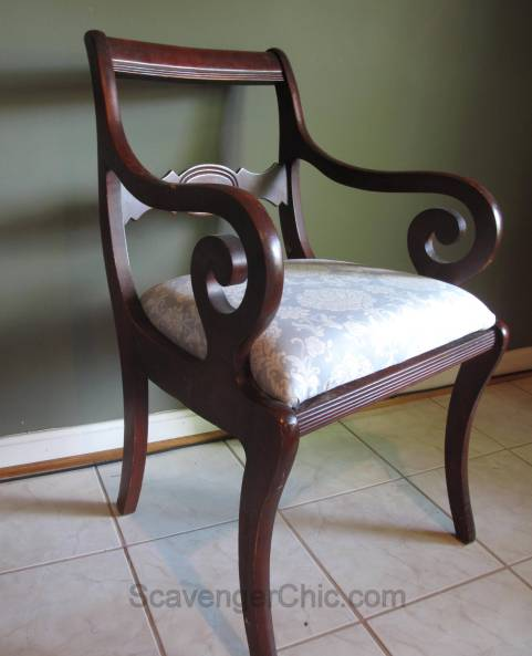 Reupholstered Dining Room Chair diy-008